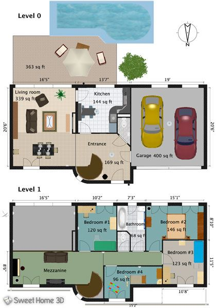 Sweet Home 3D  Galeria casa Pinterest 3d, Galleries and - Plan Maison Sweet Home 3d