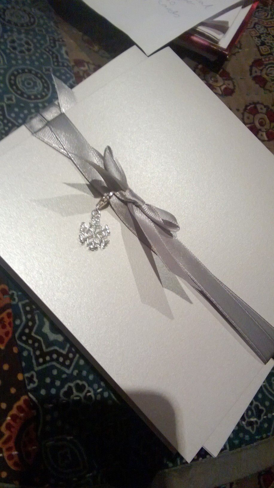 our home made winter wedding invitations :)