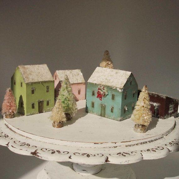 Christmas Tree Farms Victoria: Handmade Christmas Village- Vintage Style Wood Houses