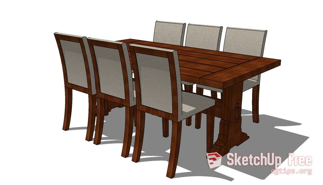 27 Table Chair Sketchup Model Free Download Table And Chairs