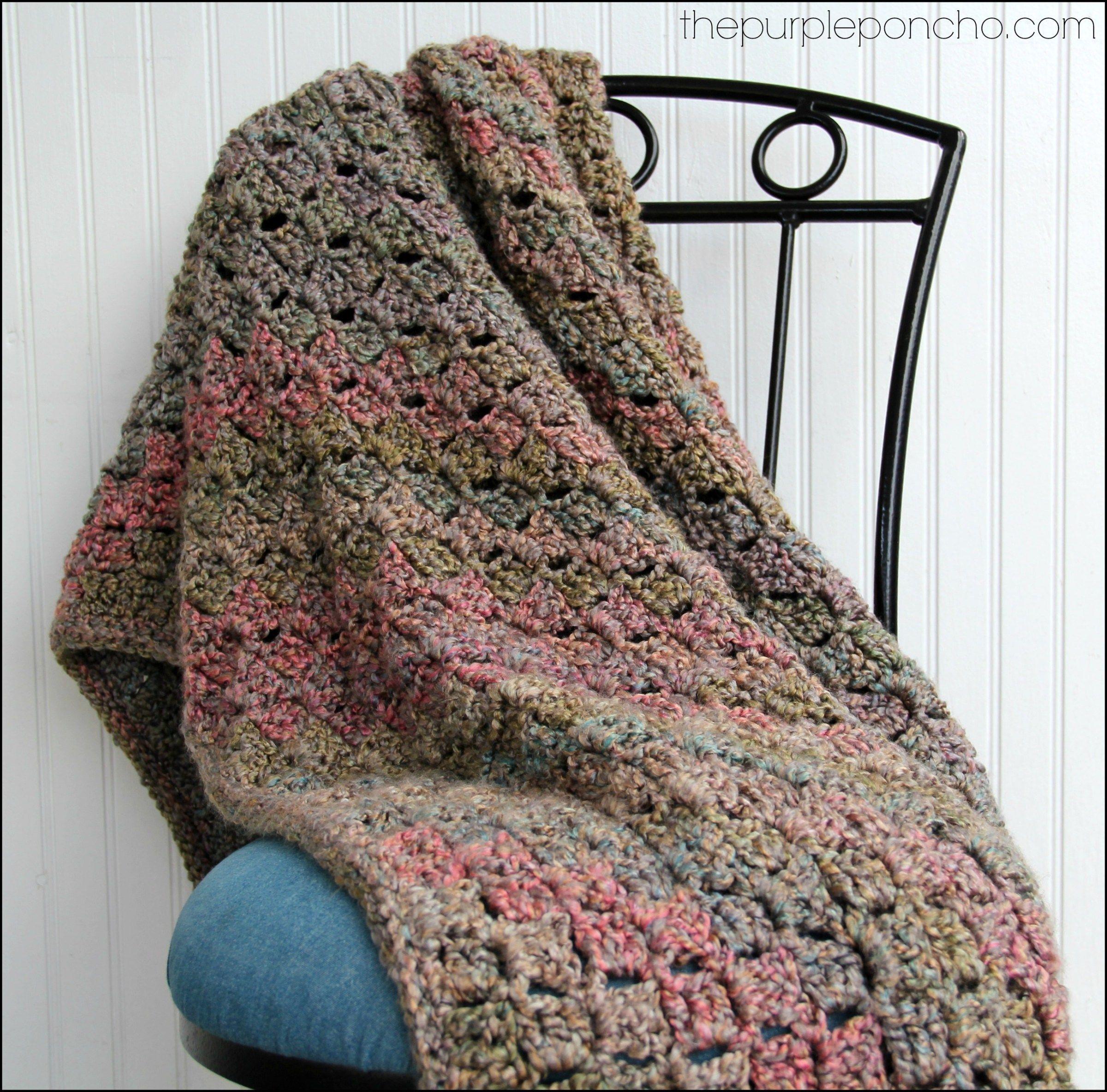 Crochet Corner-to-Corner Throw with Rope Edging – Free Patterns ...