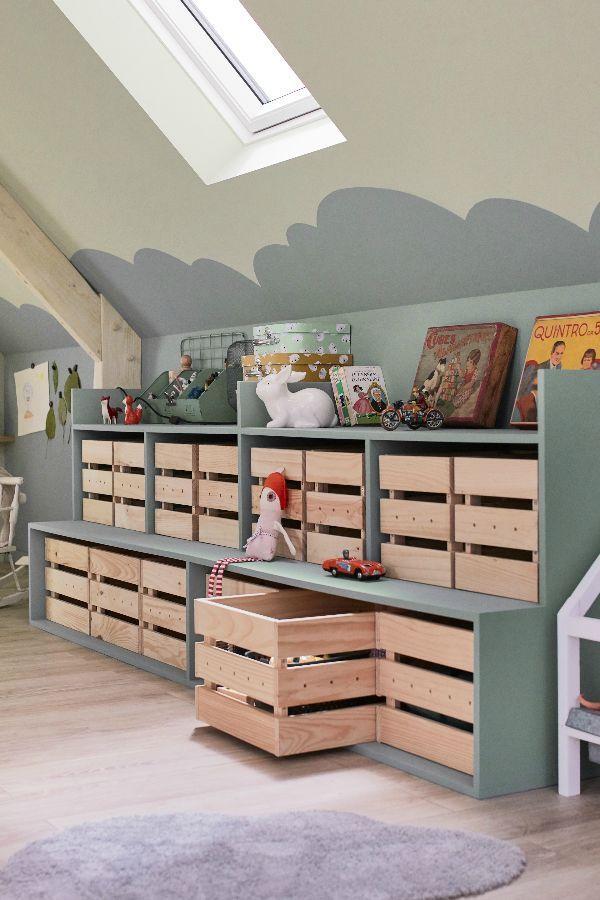 Des Rangements Pour Les Jouets Des Enfants En 2020 Con Imagenes Decorar Habitacion Ninos Muebles Para El Hogar Muebles Para Ninos