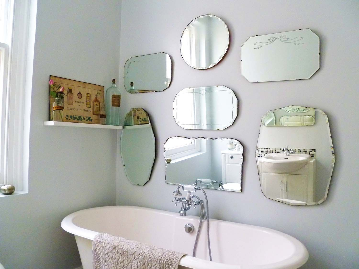 Bathroom Wall Mirrors Rectangle Oval Round Frameless Types Of