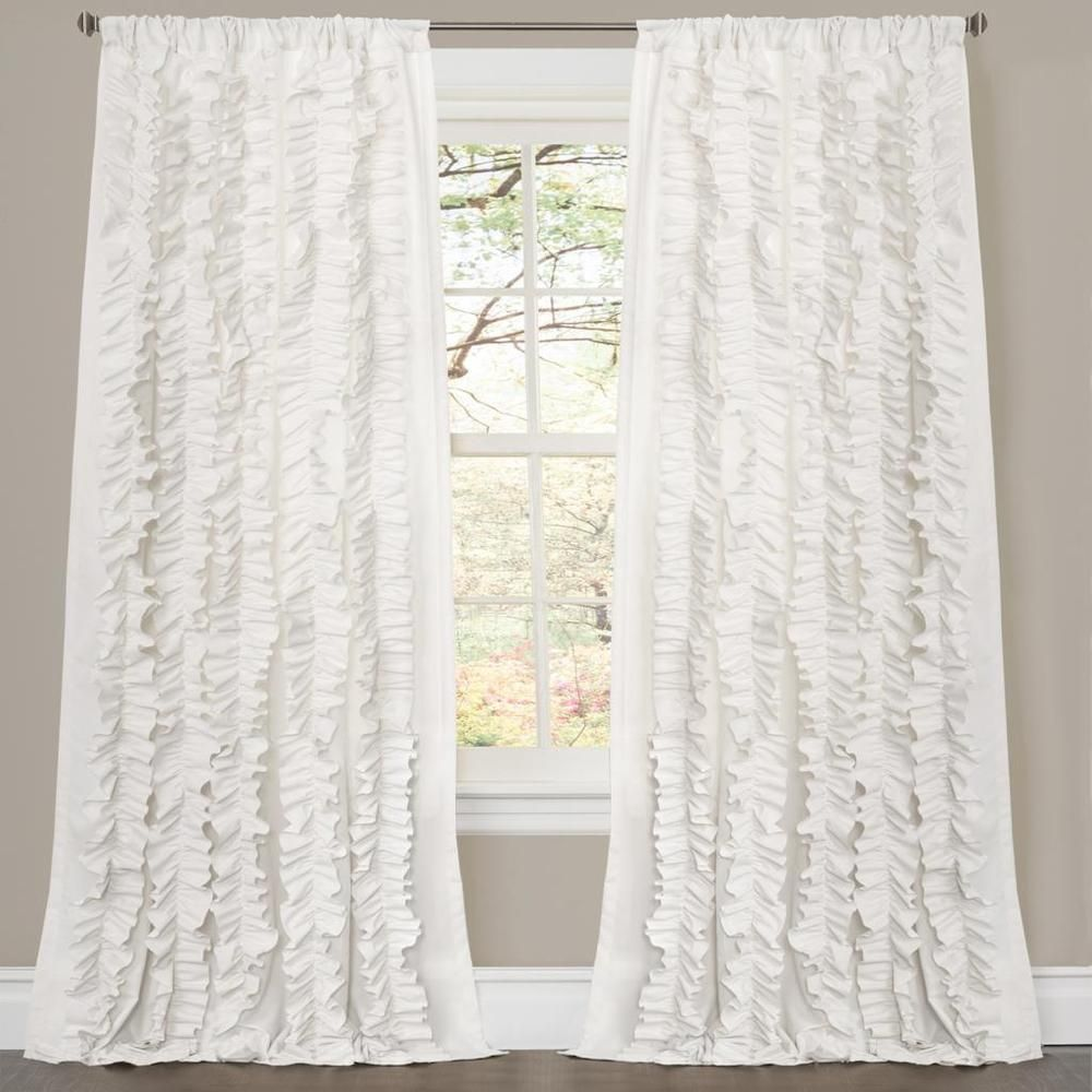lush decor belle white 84 inch curtain panel overstock com
