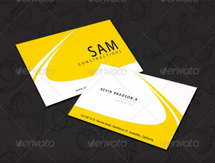 Construction Business Card Template PSD And InDesign Format - Business card template indesign