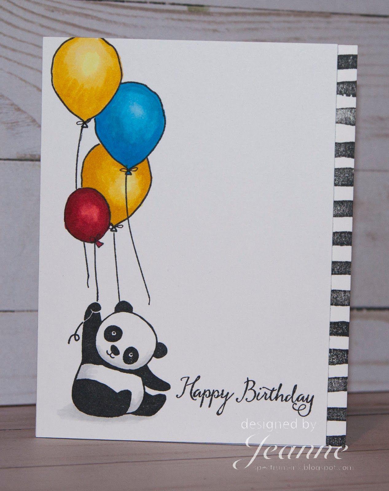 Stampin Up Party Pandas Creative Birthday Cards Watercolor Birthday Cards Birthday Card Drawing