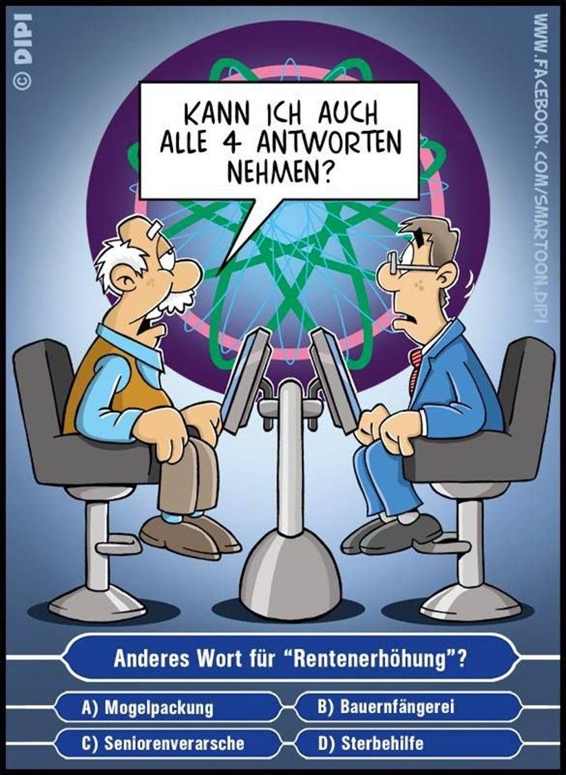 Anderes Wort Fur Rentenerhohung Lustig Humor Lustige Cartoons Lustig