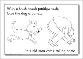 This Old Man Knick Knack Paddywhack Colouring Sheets Sb11103