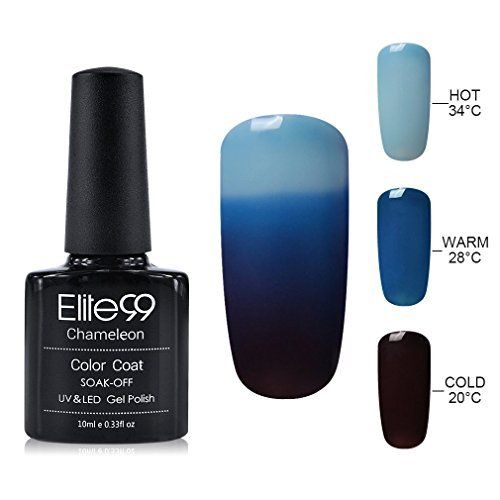 Elite99 10ML UV LED Thermal Temperature Color Changing Gel Nail Polish Soak Off Nail Lacquer 4201
