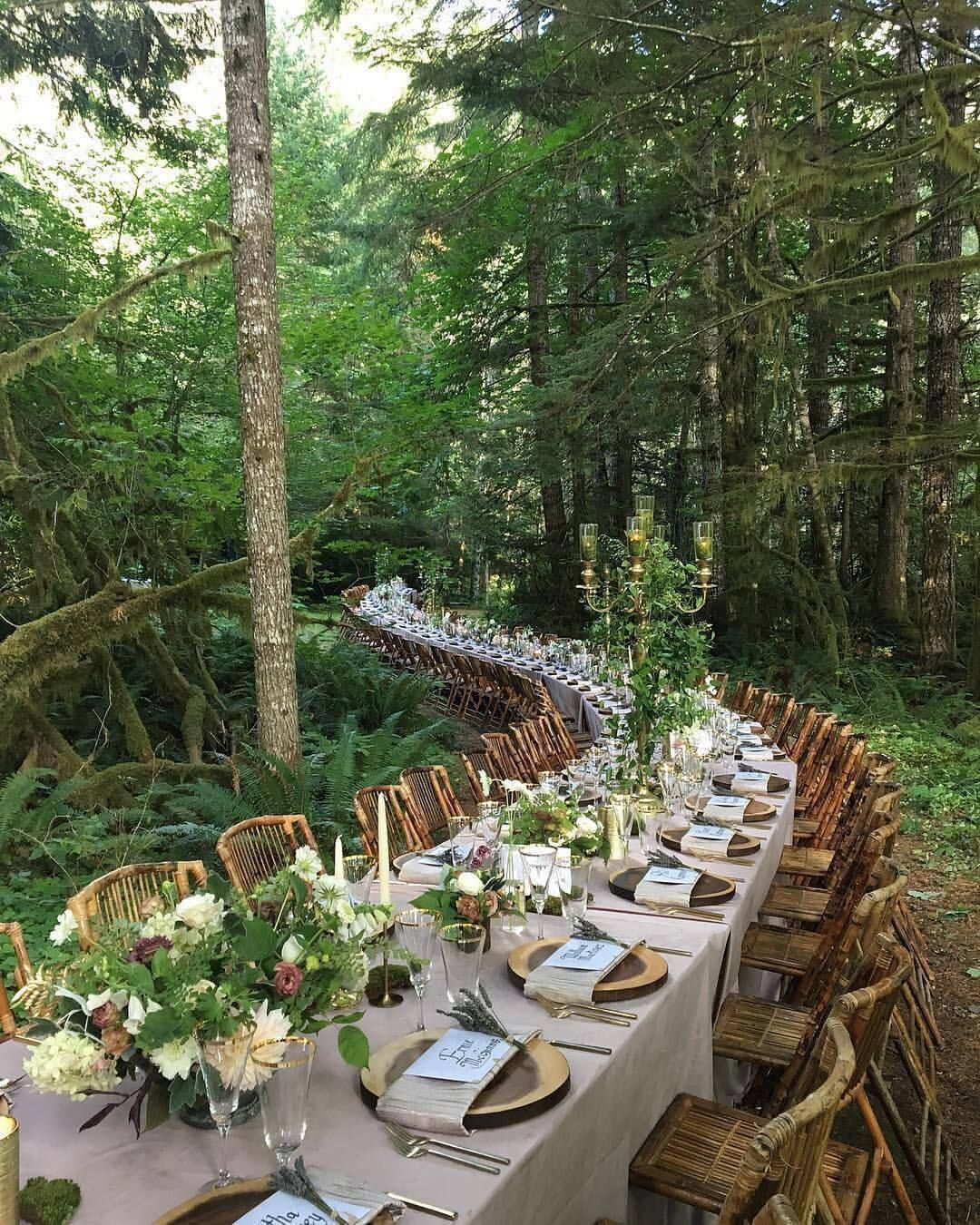 "Outdoor Wedding Spots Near Me: Interior Design & Decor On Instagram: ""Dinner In Woods"