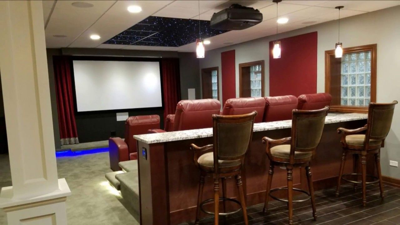 Kole Digital Basement Home Theater And Bar Tour Open Concept