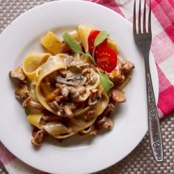 Papardelle with sauteed chanterelle