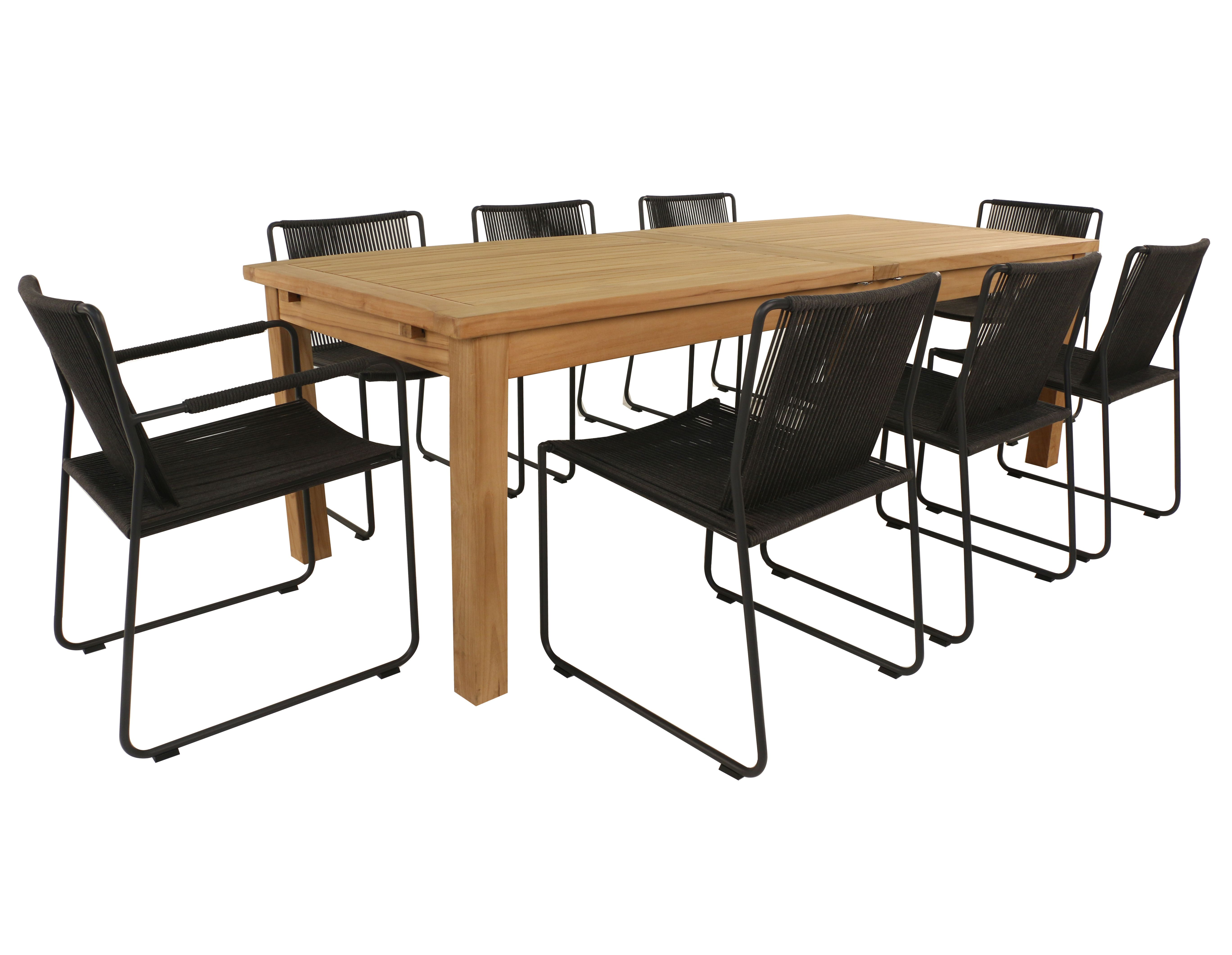 Just Because You Love A Teak Dining Table Doesn T Mean You Have To Go With Teak Dining Chairs Wicker Outdoor Dining Set Teak Dining Chairs Teak Dining Table