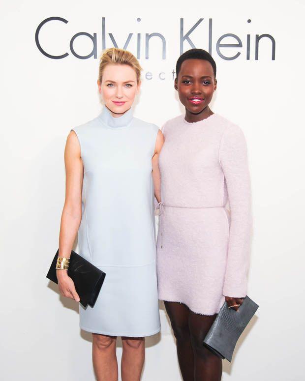 Lupita Nyong'o and Naomi Watts - Calvin Klein Collection Fall 2014 Fashion Show