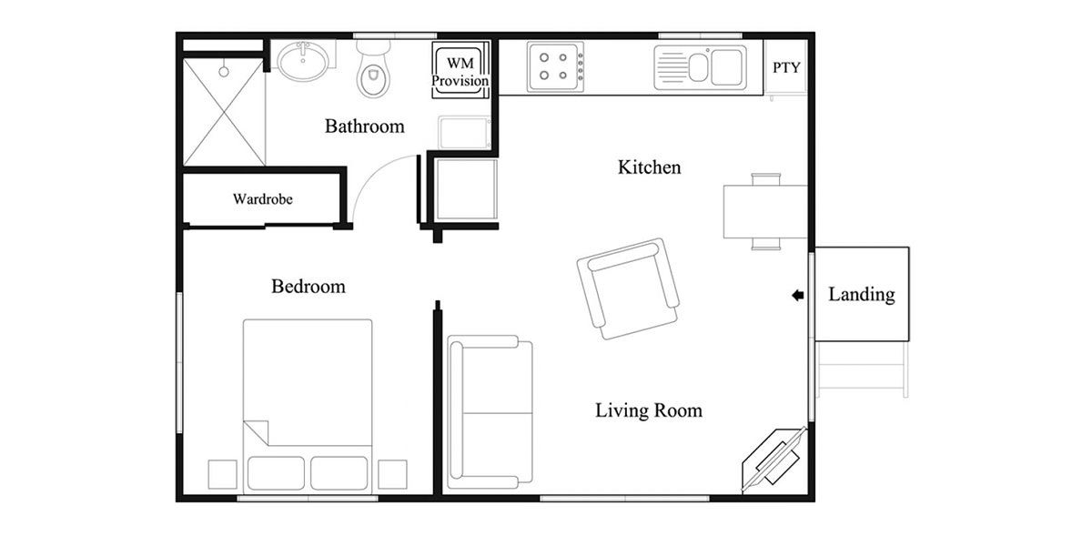 View The Floor Plan Of The Alder 2 Granny Flat Design Floor Plans Granny Flat Small House Plans