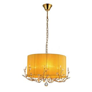 Warehouse Of Tiffany Hebe Yellow Orange Crystal Chandelier Hebe - Orange chandelier crystals