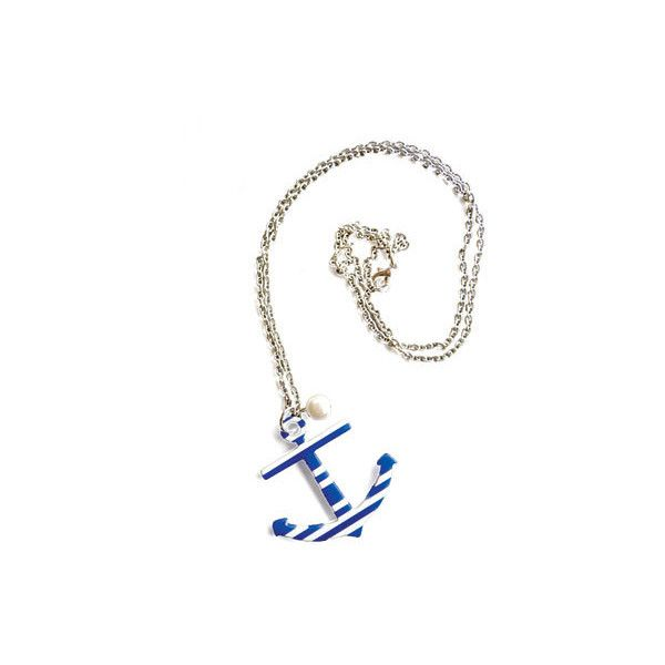 sailor-chic-anchor-necklace < beach-style-sailor-chic - Coastal Living, found on polyvore.com