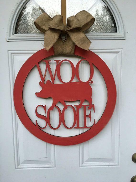 Woo Pig Sooie Door Hanger Razorback Door Hanger Woo Pig Woo Pig Sooie Wooden Signs For Sale Door Hangers