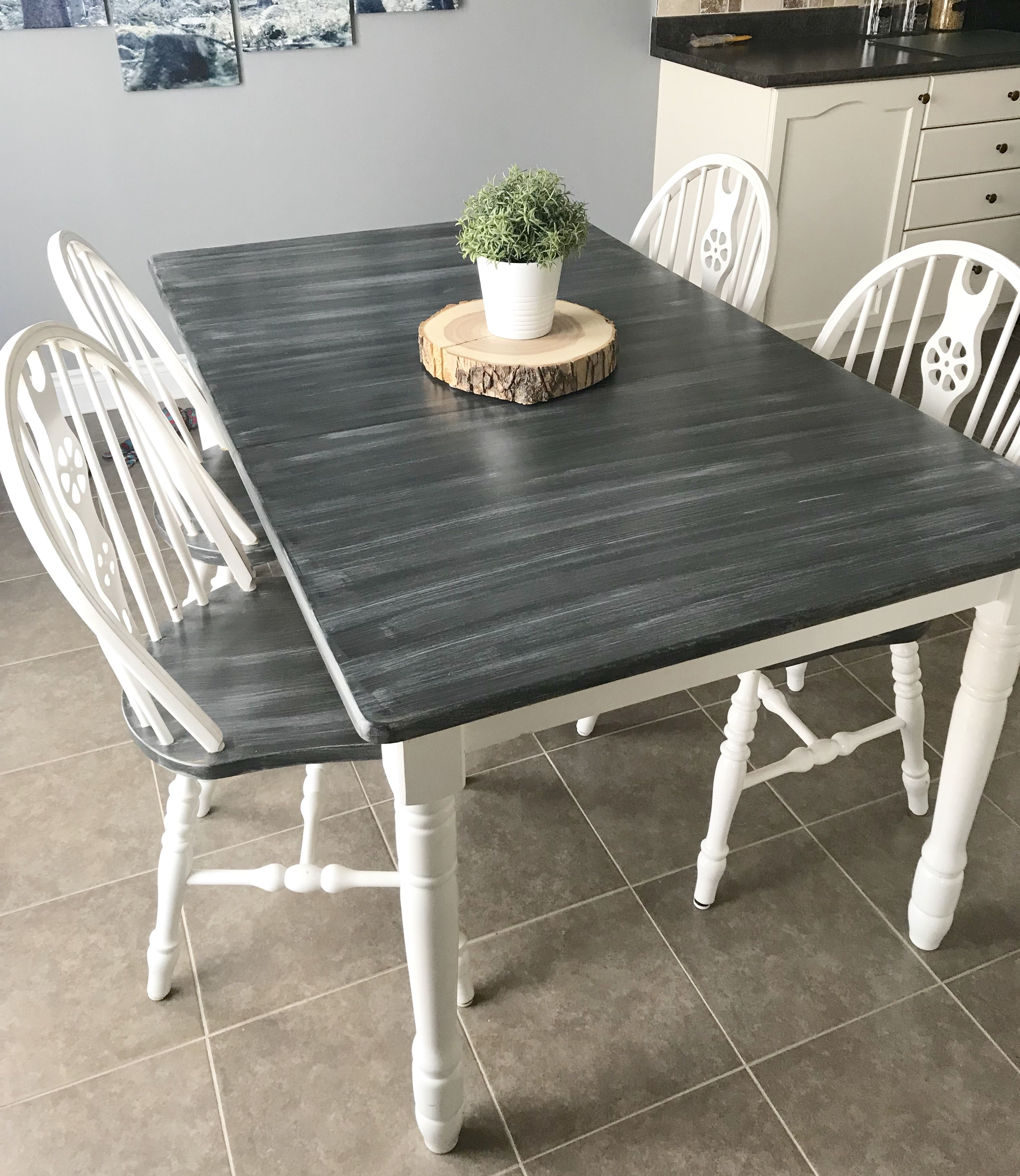 Chalk Painted Dining Set Chalk Paint Dining Table Chalk Paint Dining Room Table Chalk Paint Kitchen Table