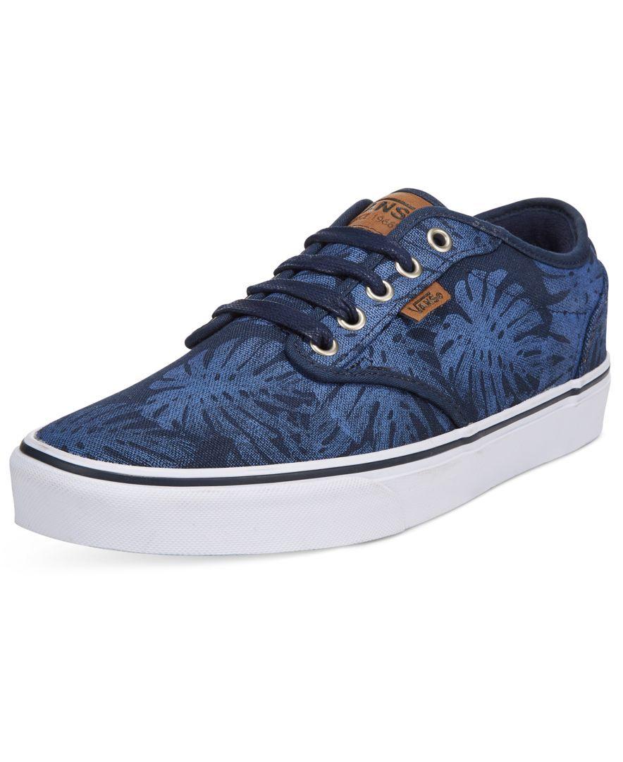 3d2fec44de Vans Men s Atwood Deluxe Flora Sneakers