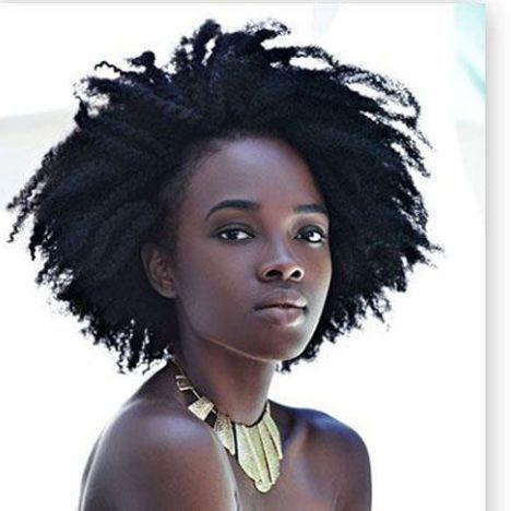 Nude women in afro hair styles