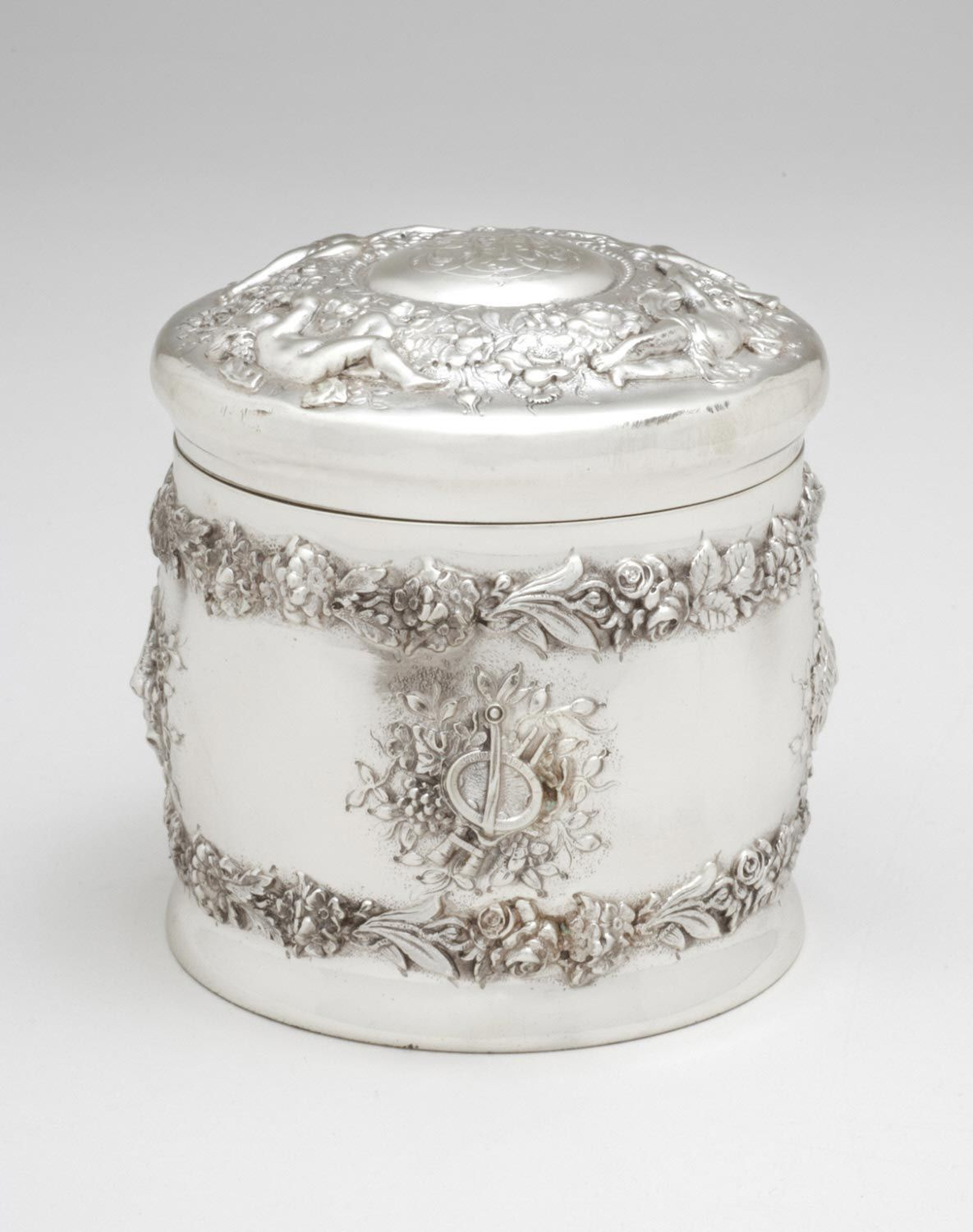 Tiffany Sterling Silver Round Container With Lid A