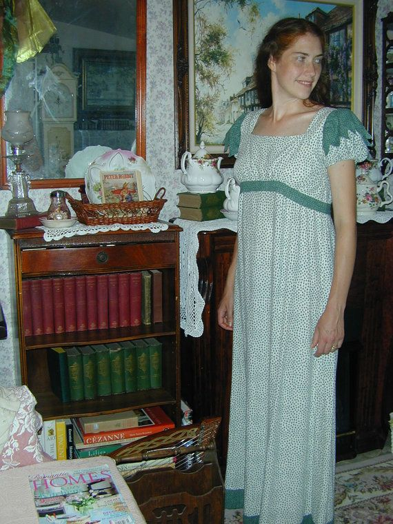 Custom Jane Austen Regency Cotton Dress by Princessandpuddles