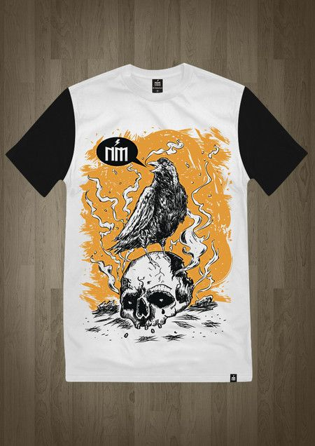 Camiseta - Crow and Skull
