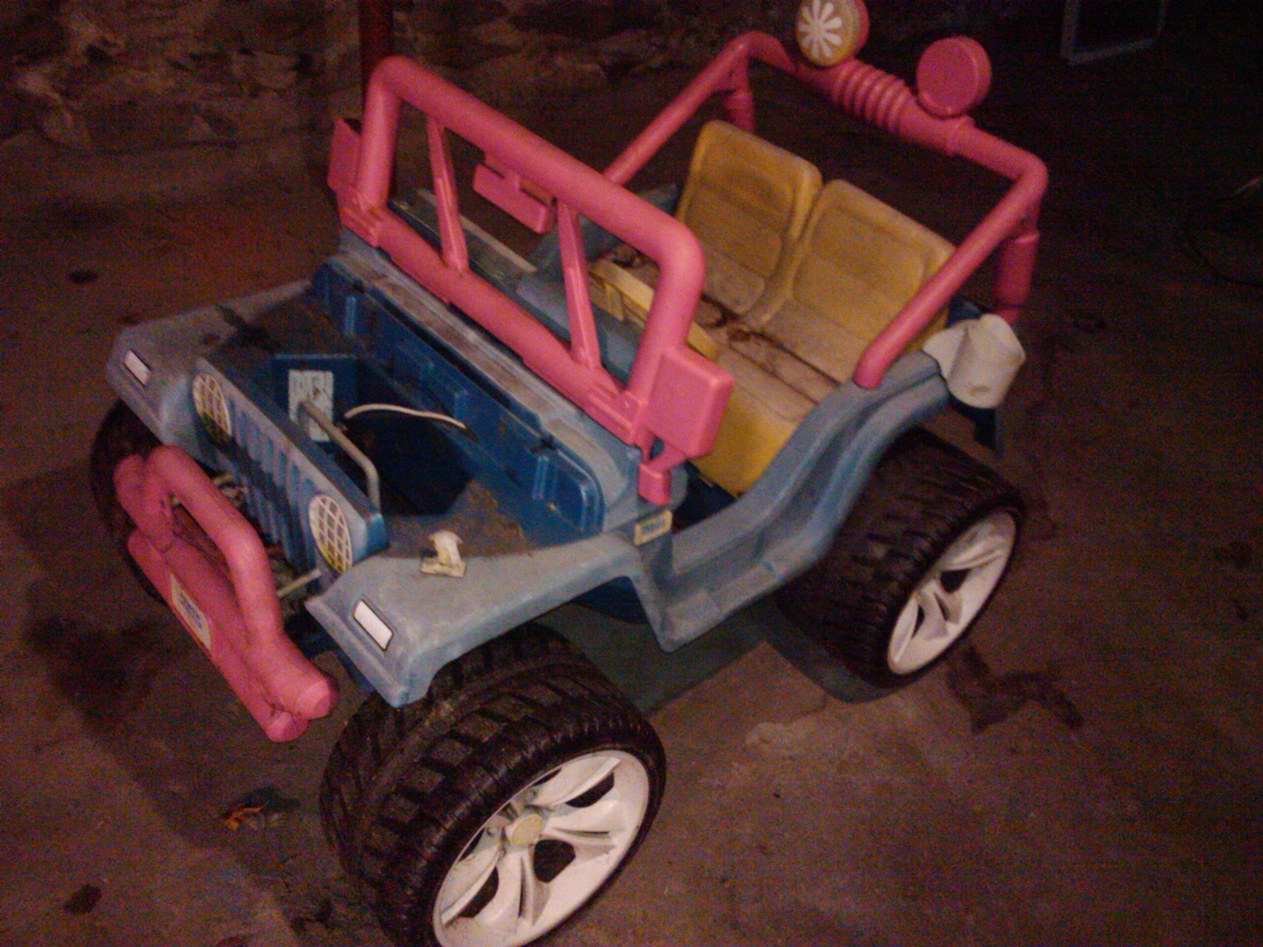 small resolution of used wheels tires axles and steering mechanism holding wiring harness motors and extra breakable replacement bits