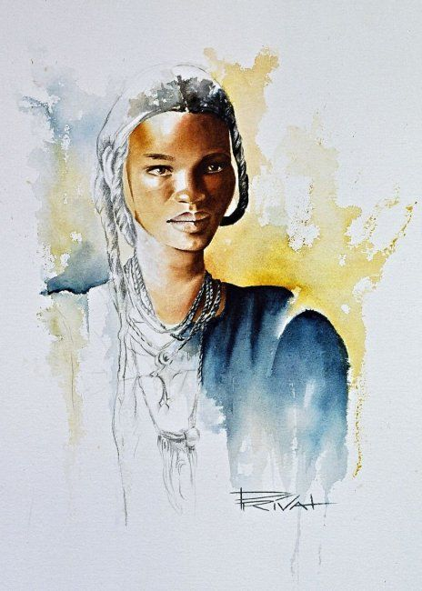 Touareg 38 Reproduction By Sonia Privat Artiste