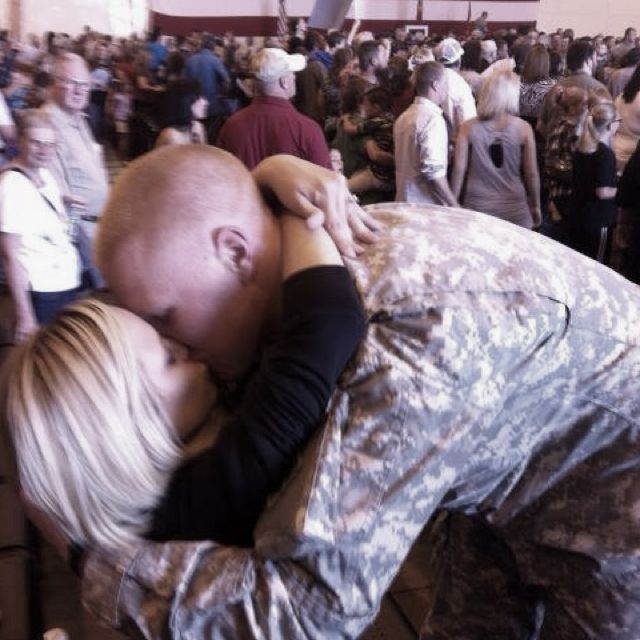 Soldier coming home to his wife after being gone for a year!