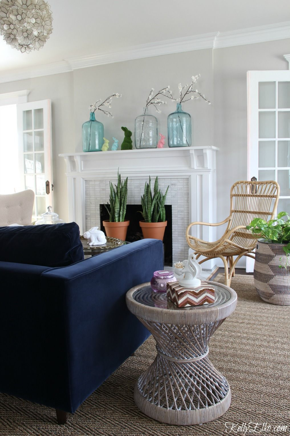 25 Spring Decorating Ideas And My Spring Mantel Home Decor Decor Living Room Mantel
