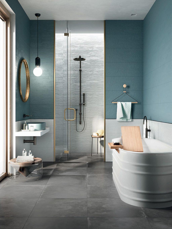Alerta deco los ba os de color azul son la ltima - Lo ultimo en azulejos para banos ...