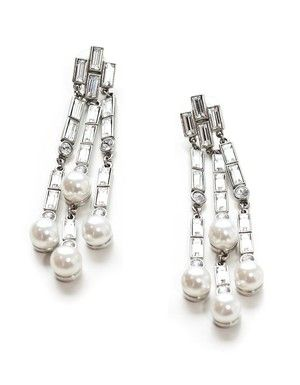 Ben Amun Crystal and Pearl Earring