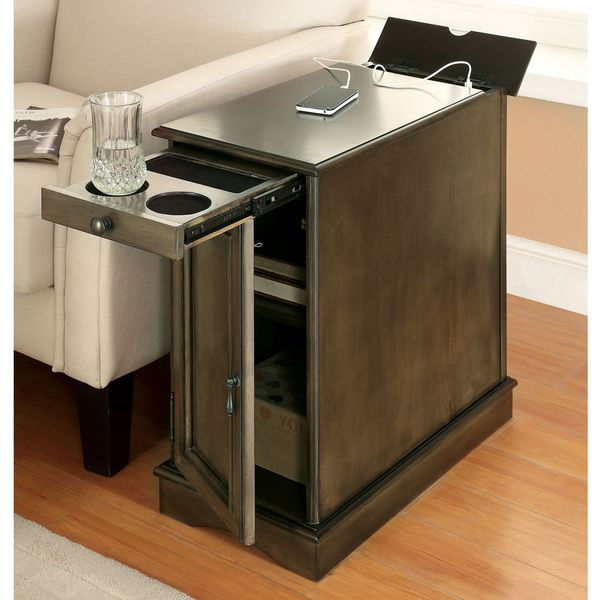 Furniture Of America Terra Multi Storage Side Table With