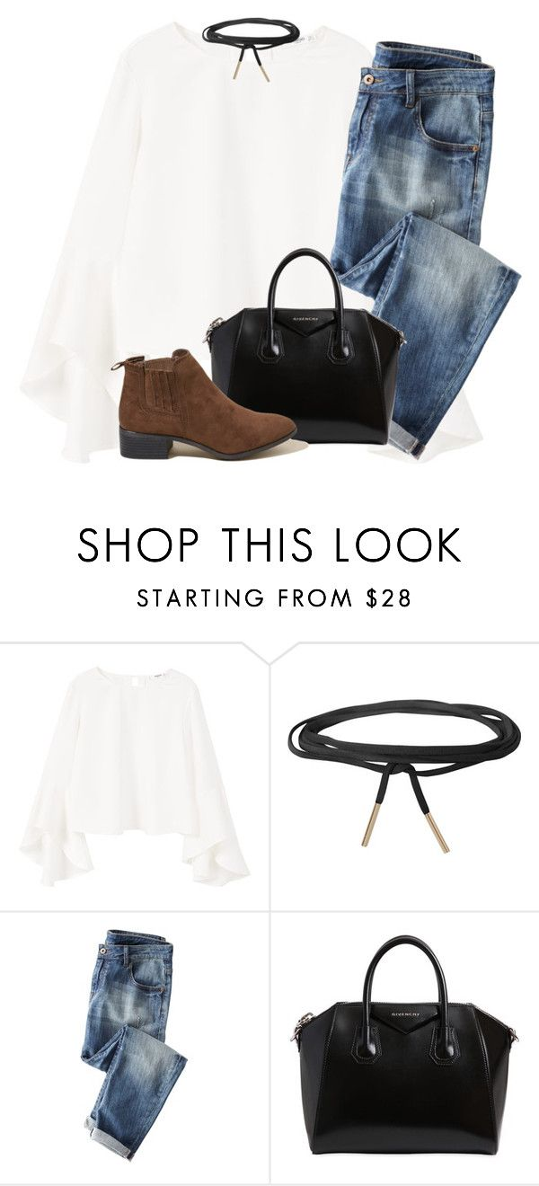 """""""qotd: have you gotten any presents already?"""" by madiweeksss ❤ liked on Polyvore featuring MANGO, Humble Chic, Wrap, Givenchy and Hollister Co."""