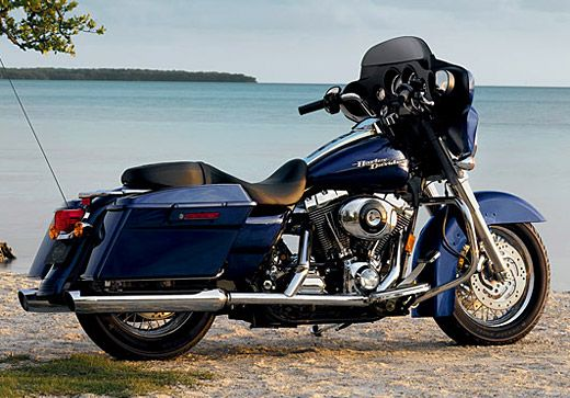 The 2006 model year includes the all-new FLHX/I Street Glide, a lower profile touring motorcycle. | Harley-Davidson 2006
