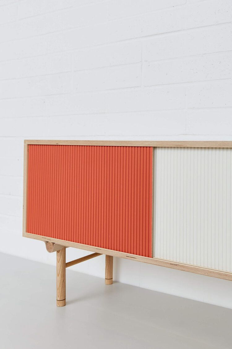 Lozi - Bespoke Plywood Furniture - Wave Sideboard with Wave shelving