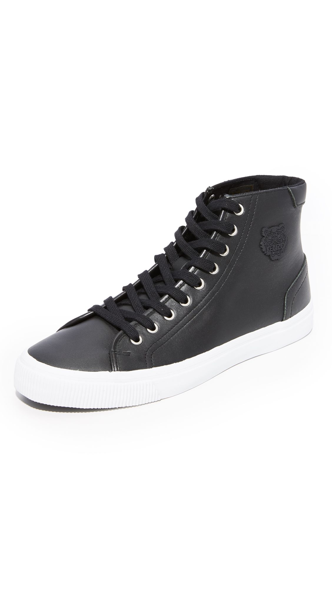 09cc6ac625 KENZO Vulcano Leather High Top Sneakers. #kenzo #shoes #sneakers ...