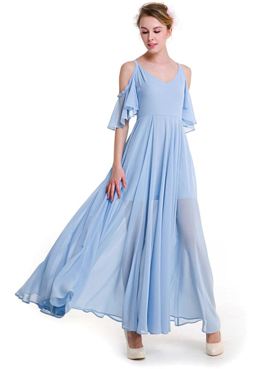 AdoreWe #JustFashionNow BKMGC❤️Designer Womens Light Blue Frill ...