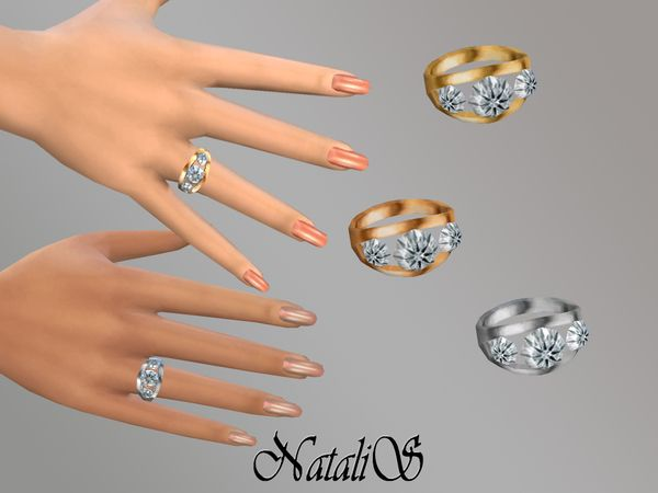 The Sims Resource Ring With Diamonds By Natalis Sims 4