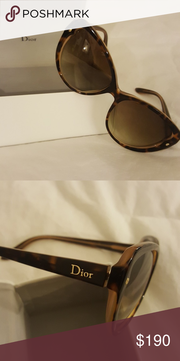 caea3a9fa70b Dior Cat Eye Sunglasses Authentic Dior sunglasses Made in Italy Dior  Pondichery 1 Style Xltcc Tortoise shell color, great condition!