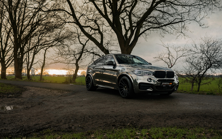 Download Wallpapers Fostla Tuning 4k Bmw X6 M50d 2018 Cars F16
