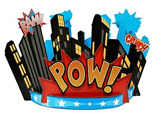 Superhero Comics Centerpiece Birthdayexpress Http Www Amazon Com Dp B00cay5518 Ref Cm Sw R Superhero Centerpiece Superhero Party Supplies Superhero Birthday