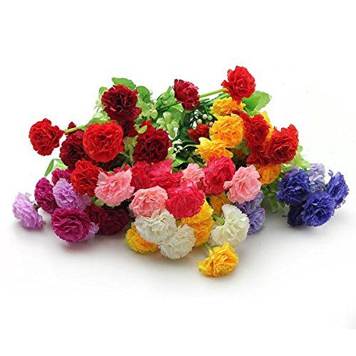 1 bouquet artificial carnation lilac silk flowers home decor amazon 1 bouquet artificial carnation lilac silk flowers home decor amazon mightylinksfo