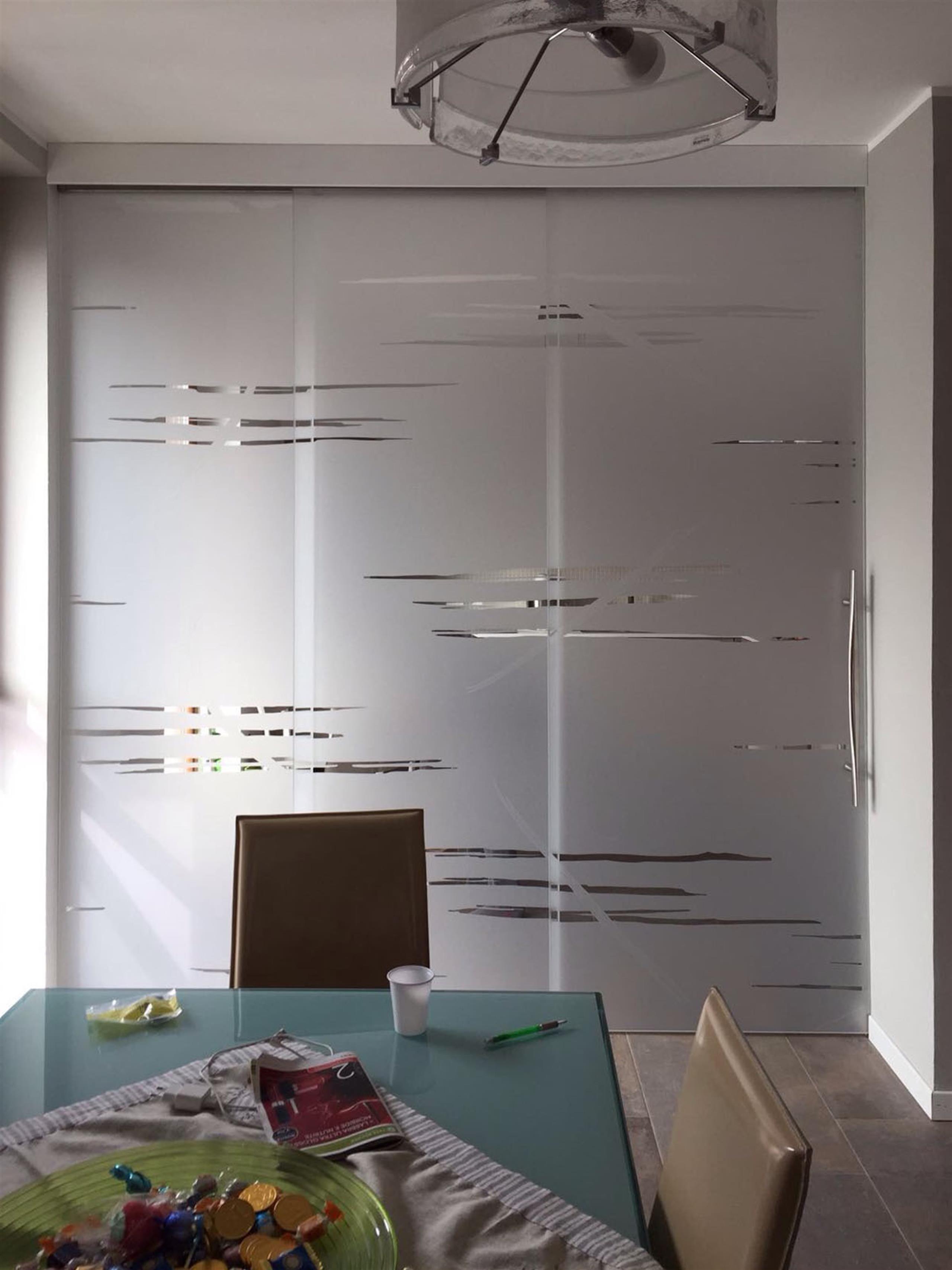 Cucina Con Vetrata Scorrevole dividere cucina e sala con porte scorrevoli in vetro