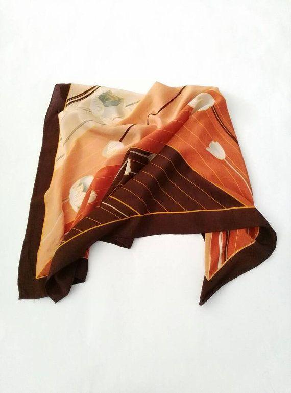 Jacqmar of London 1980's vintage scarf by Bygonefashionbyjane