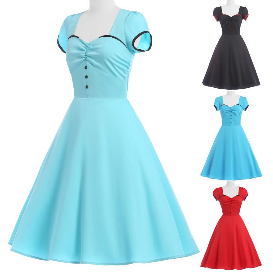 Plus size vintage retro swing 50s housewife pinup party prom dresses plus size vintage retro swing 50s housewife pinup party prom dresses ombrellifo Gallery
