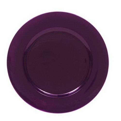 ChargeIt! by Jay Round Charger Plate in Purple (Set of 8)  sc 1 st  Pinterest & ChargeIt! by Jay Round Charger Plate in Purple (Set of 8) | Weddings ...
