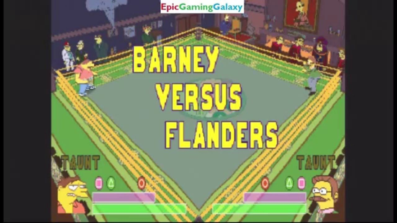 Ned Flanders VS Barney Gumble In A The Simpsons Wrestling Match This video showcases Gameplay of Ned Flanders VS Barney Gumble In A The Simpsons Wrestling Match